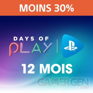PlayStation Now 12 mois Days of Play