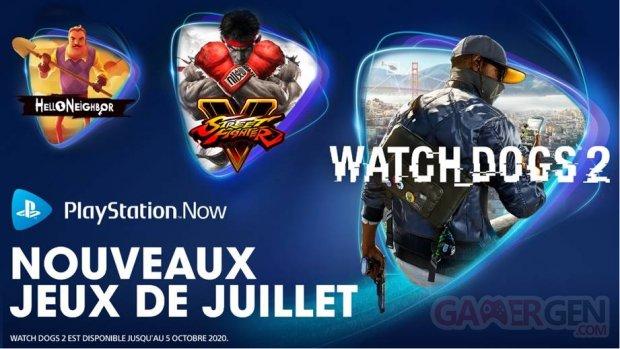 PlayStation Now juillet 2020