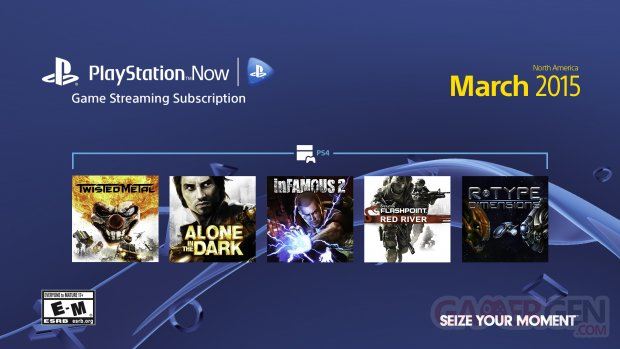 PlayStation Now mars 2015