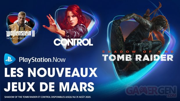 PlayStation Now mars 2020