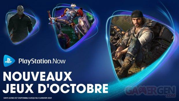 PlayStation Now octobre 2020