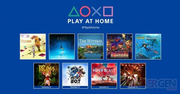 PlayStation Play at Home mars 2021