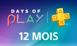PlayStation Plus 12 mois Days of Play