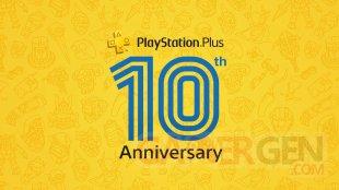 PlayStation Plus logo 10 ans