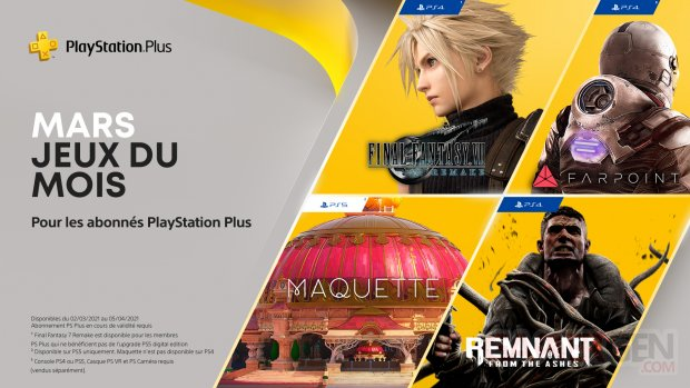 PlayStation Plus mars 2021 fr