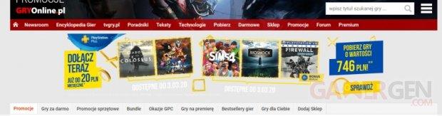 PlayStation Plus publicité mars 2020