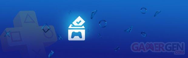 PlayStation Plus Vote to Play Votez pour Jouer banner
