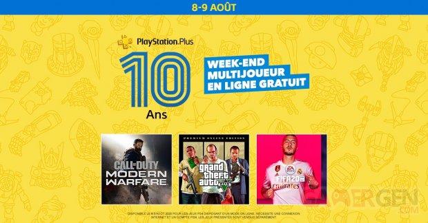PlayStation Plus week end multijoueur gratuit
