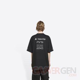 PlayStation PS5 Balenciaga T shirt noir 5