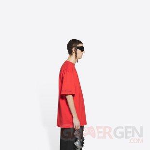 PlayStation PS5 Balenciaga T shirt rouge 4