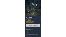PlayStation Store promo rain