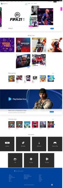 PlayStation Store revamp refonte 20 10 2020 pic 1