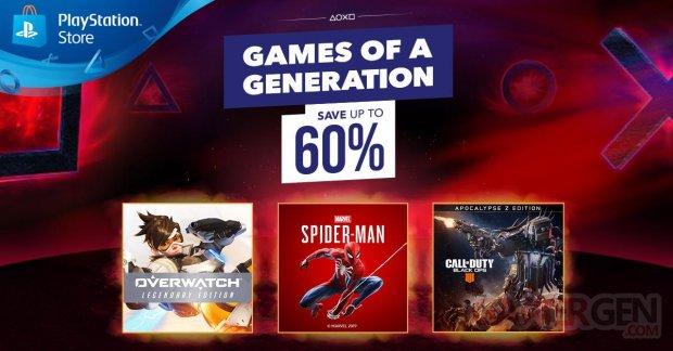 PlayStation Store Soldes Jeux de la Génération