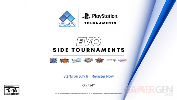 PlayStation Tournaments Tournoi EVO Community Championship series EVO Side Tournaments