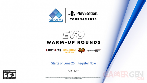 PlayStation Tournaments Tournoi EVO Community Championship series EVO Warm Up Rounds