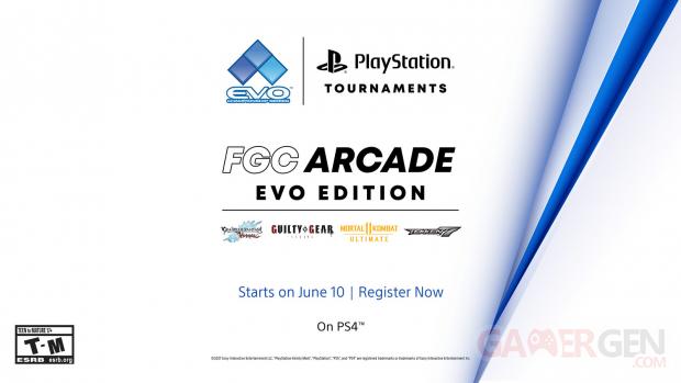 PlayStation Tournaments Tournoi EVO Community Championship series FCC Arcade EVO Edition