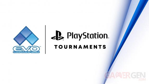 PlayStation Tournaments Tournoi EVO Community Championship series head logo