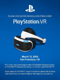 PlayStation VR GDC 2016