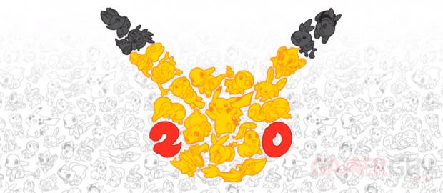 Pokémon 20 ans 20th anniversary logo 2