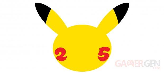 Pokémon 25 ans 25th Anniversary celebration logo Pikachu