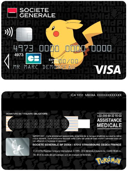 Insolite Pokemon La Societe Generale Annonce Une Serie De Cartes Bancaires Avec Pikachu Gamergen Com