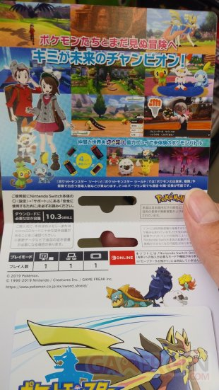 Pokémon Epée Bouclier carte téléchargement 14 10 2019
