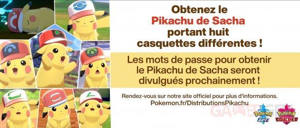 Pokémon Epée Bouclier Pikachu casquette 17 10 2020