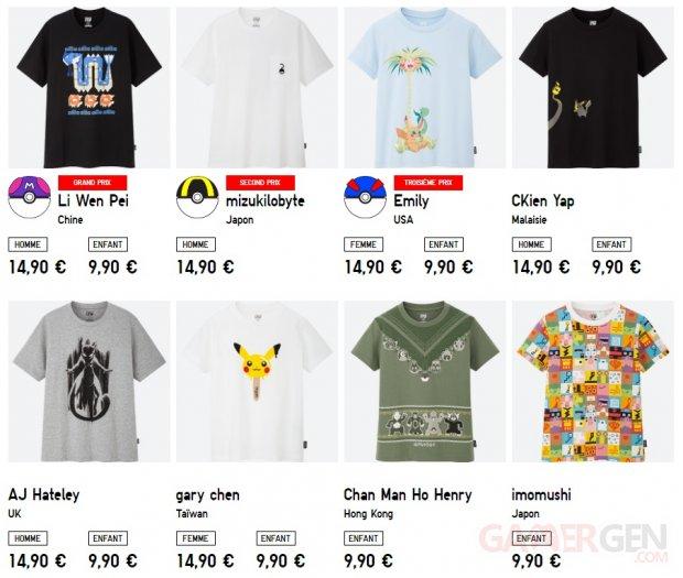 Pokémon Épée Bouclier t shirts Uniqlo