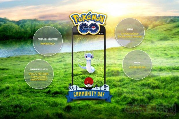 Pokémon GO 2e Journée Communauté février Minidraco attaque exclusive