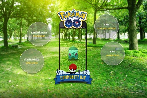 Pokémon GO 3e Journée Communauté mars 2018 Bulbizarre attaque exclusive