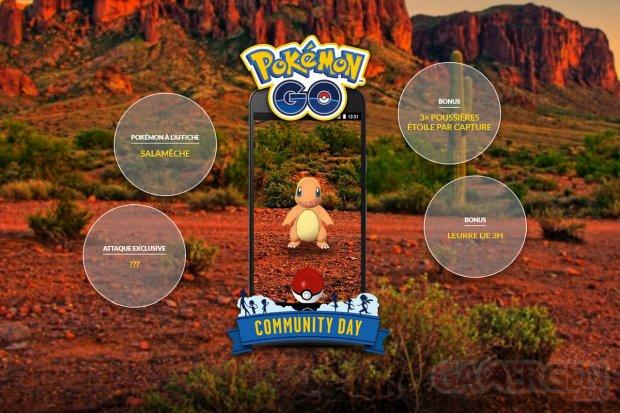 Pokémon GO 5e Journée Communauté mai Community Day Salamèche