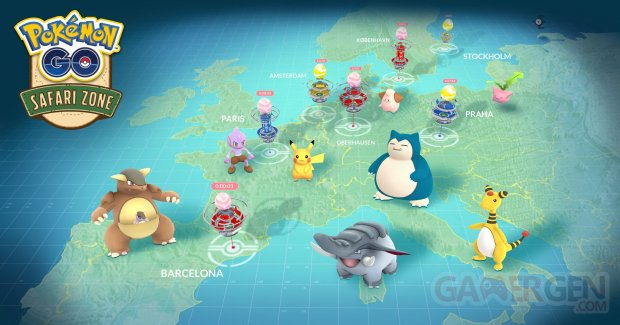 Pokémon GO anniversaire events Unibail Zone Safari