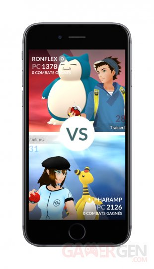 Pokémon GO combat versus