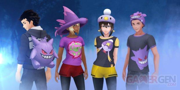 Pokémon GO event évènement Halloween 2018 boutique vêtements avatar