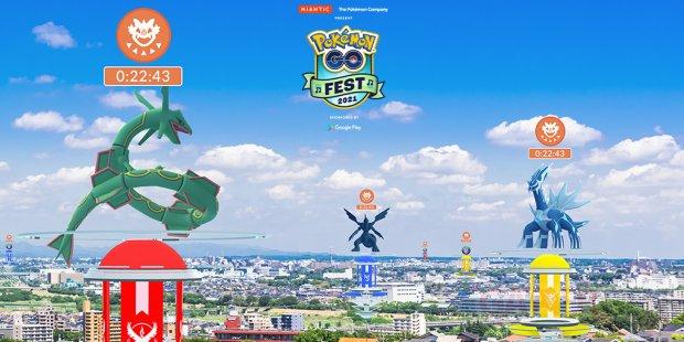 Pokémon GO Fest 2021 raids