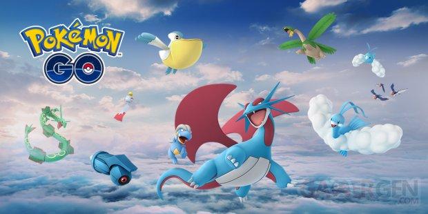 Pokémon GO Hoenn 2018 3e génération créatures vol