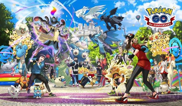 Pokémon GO key art fourth anniversary 4 ans anniversaire artwork