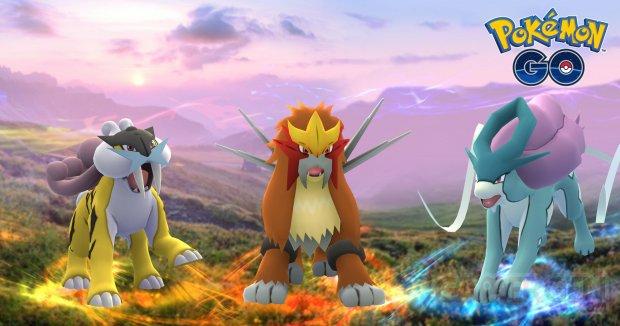 Pokémon GO Légendaires Entei Raikou Suicune