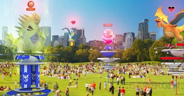Pokémon GO MAJ update majeure raids arènes gyms