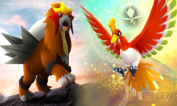 Pokémon GO PoGO légendaires aout septembre 2018 Ho Oh Entei Celebi