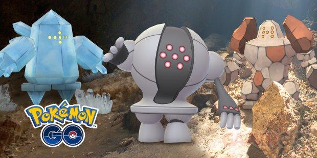 Pokémon GO Regice Regirock Registeel