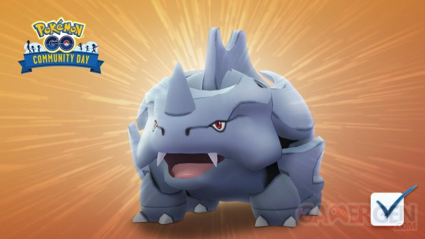 Pokémon GO Rhinocorne Community Day