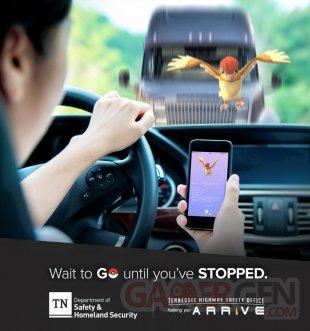 Pokémon Go voiture campagne sensibilisation accident