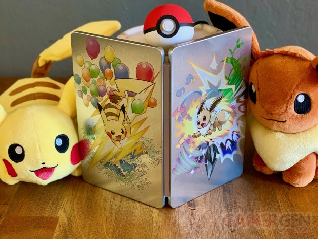 Pokémon Let's Go Pikachu Évoli Steelbook Boitier Acier Best Buy
