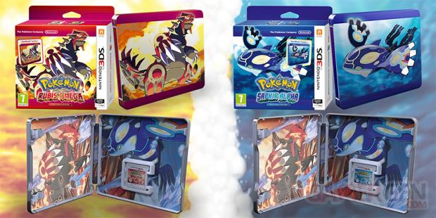 Pokémon Rubis Oméga et Saphir Alpha edition limitee steelbook (1)