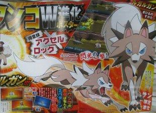 Pokémon Soleil Lune scan corocoro evolution rocabot lugarugan jour bis 13 09 1