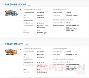 Pokemon Sun Moon marque depot