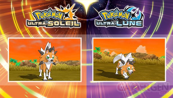 Pokémon Ultra Soleil Ultra Lune Lougaroc forme crépusculaire 06 08 2017