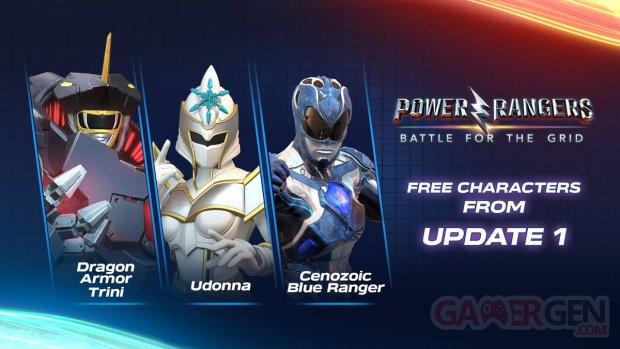 Power Rangers Battle for the Grid Update 1 personnages 04 04 2019