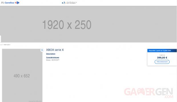 precommande Xbox One series X